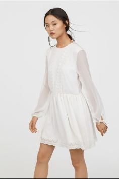 Chiffon Dress with Lace - H&M - $23.99 CAD
